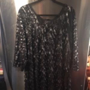 Elementz Black and Silver Blouse with Ruffles (6)